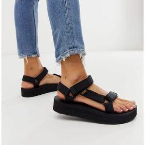 Teva Midform Universal Platform Sandals, Black